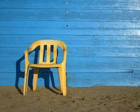 Yellow chair Stock Photography