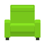 Yellow chair in flat style. Stock Image