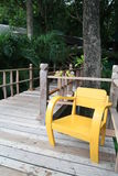 A yellow chair Royalty Free Stock Images