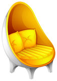 A yellow chair Stock Photography