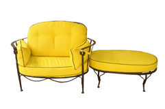 Yellow chair Stock Images