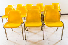Yellow chair in room Royalty Free Stock Photo
