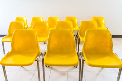 Yellow chair in room Stock Photos