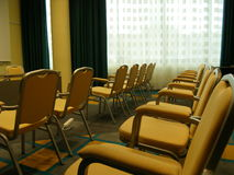 Yellow chairs. Yelow chairs at conference room Stock Images