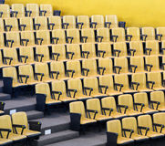 Yellow chairs in conference hall Royalty Free Stock Photography