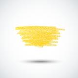 Yellow chalk texture2 Stock Photography