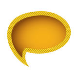 yellow chat oval bubble Stock Image