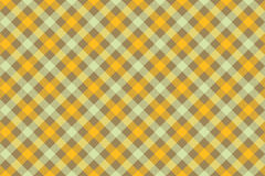 Yellow check diagonal fabric texture background seamless pattern Stock Image