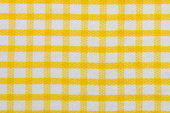 Yellow checked fabric background, kitchen towel texture Royalty Free Stock Images