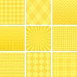 Yellow checked pattern. Royalty Free Stock Photo