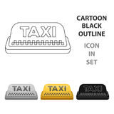 Yellow checker taxi with logo. Equipment taxi station for identification car. Taxi station single icon in cartoon style vector symbol stock web illustration Stock Photo
