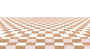 Yellow checkerboard floor background. Abstract Royalty Free Stock Photo