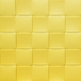 Yellow checkered Placemat, texture Stock Images
