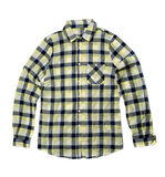 Yellow checkered shirt. Stock Photos