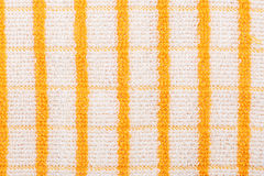Yellow checkered towel Royalty Free Stock Photography