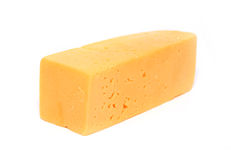 Yellow cheese. On white background Royalty Free Stock Images