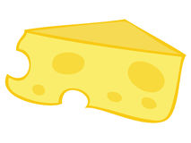 Yellow Cheese Block. Illustration of a yellow Cheese Block Royalty Free Stock Photos