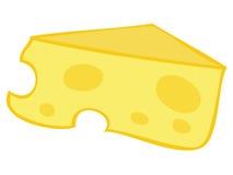 Yellow Cheese Block. Royalty Free Stock Photos