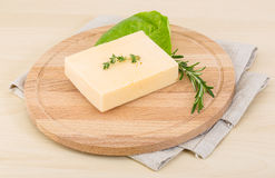 Yellow cheese Stock Photography