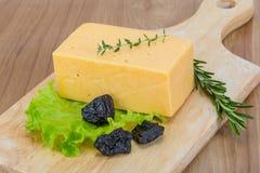Yellow cheese Stock Photos