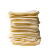 Yellow cheese - the heap of slices Royalty Free Stock Images
