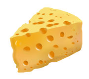 Yellow cheese with holes Royalty Free Stock Photos