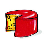 Yellow cheese illustration Royalty Free Stock Images
