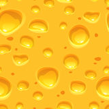 Yellow cheese seamless pattern Royalty Free Stock Image