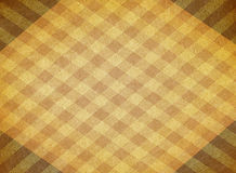 Yellow chequered canvas background Stock Photo