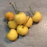 Yellow cherries royalty free stock photo