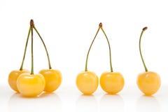 Yellow cherries - one two three Stock Image