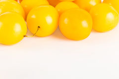 Yellow cherry plums Stock Photography
