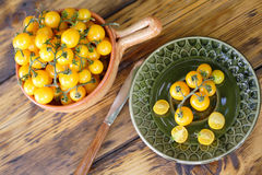 Yellow cherry tomatoes Royalty Free Stock Photo