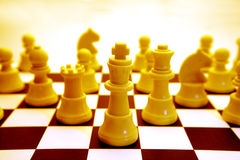 Free Yellow Chessboard And Pieces Royalty Free Stock Photo - 3360345