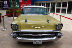 Yellow Chevrolet Bel Air Royalty Free Stock Image