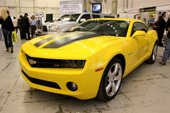 Yellow Chevrolet Camaro Royalty Free Stock Photography