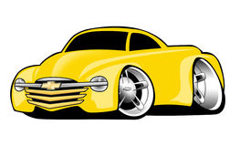 Yellow Chevy SSR Cartoon Illustration Stock Images