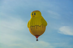 Yellow chick hot air balloon Royalty Free Stock Image