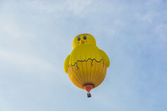 Yellow chick hot air balloon Stock Images