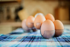 Yellow chicken eggs Royalty Free Stock Images