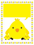 Yellow chicken frame Stock Image