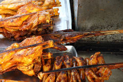 Yellow chicken grilled Stock Image
