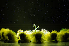 Yellow chicks-ugly duckling -Children dance Stock Photography