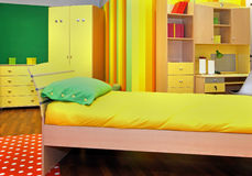 Yellow child room Royalty Free Stock Photography