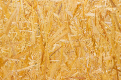 Yellow chipboard texture, wood background Royalty Free Stock Photos