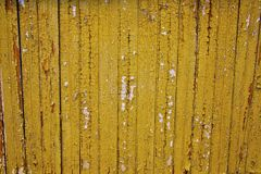 Yellow Chipped Wood. With cracks stock images