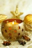Yellow christmas background. Stock Photography