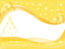 Yellow  Christmas background. Yellow  background for Christmas card with a blank space for text Royalty Free Stock Photography