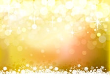 Yellow Christmas background Royalty Free Stock Photography