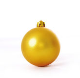 Yellow christmas ball Royalty Free Stock Photography